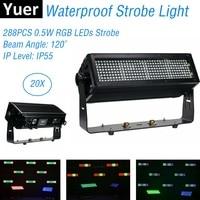 Disco Light Music 288LEDS 0.5W RGB LED Strobe Light DMX 512 LED Wall Wash Lights Waterproof Stage Effect Strobe For Dj Light KTV
