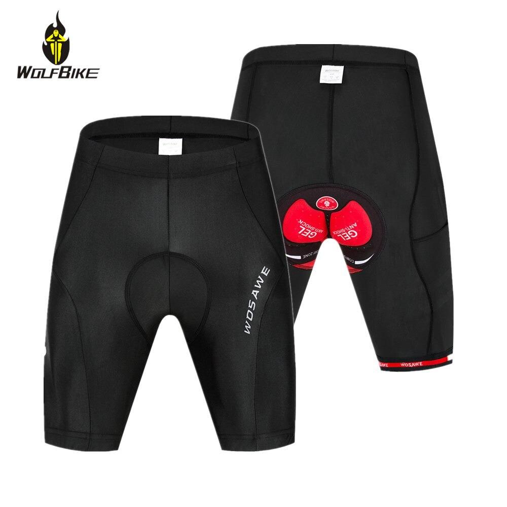 WOSAWE Men's MTB Cycling Shorts Gel Padded Underwear Shockproof Outdoor Sports Wear Downhill Mountain Bike Tights Under Short
