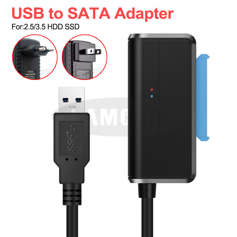 USB 3.0 SATA 3 Cable Sata To USB Adapter Plug and play 22 Pin Sata III Cable <font><b>Support</b></font> 2.5 or <font><b>3.5</b></font> Inch External <font><b>SSD</b></font> HDD Hard Drive image