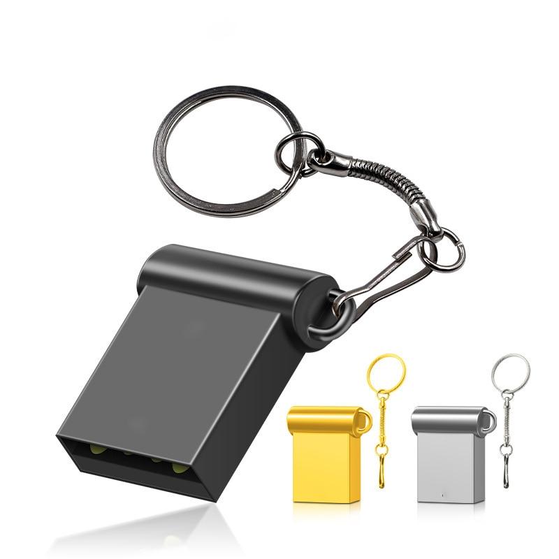 Memory-Stick Pen-Drive Metal Tiny Mini USB 32GB 64GB 128GB 3-Color 16GB U-Disk Cle USB2.0