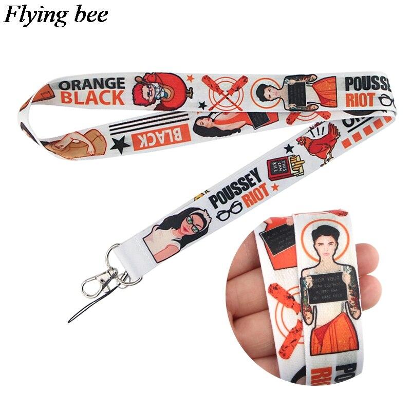 Flyingbee Prison Story Women Lanyard Phone Rope Keychains Phone Lanyard For Keys ID Card Cartoon Lanyards X0801