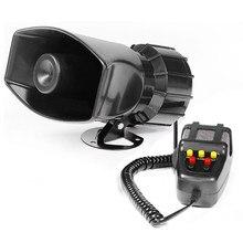 7-Sound Loud Car Warning Alarm Police Fire Siren Air Bugle PA Speaker 12V 60W Siren Air Horn Megaphone Car Horn 110DB