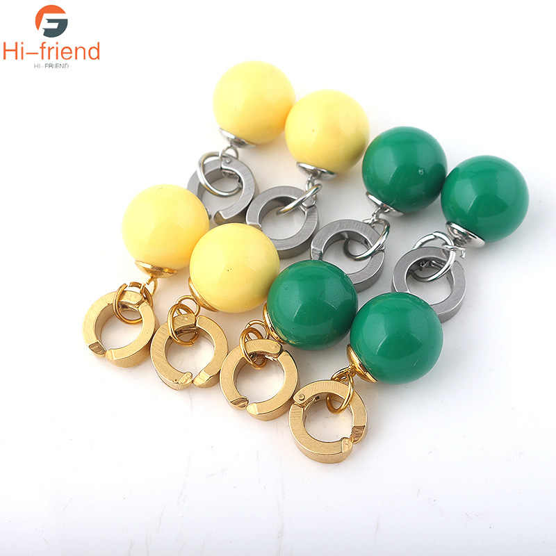 SC amarillo verde Dragon Ball Z Potara Cosplay Drop Earrings DragonBall ZORO Eardrop pendientes joyería para mujeres niñas regalo