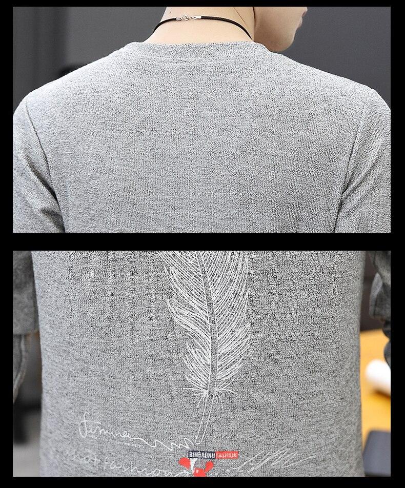 H40585ed0e2354b6d937b2d12ae507c54A CO 2019 men long sleeve printed fleece New age season round collar fleece youth trend