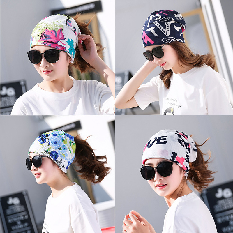[Multi-functional] Hat Women's Set Of Head Cap Viscose Confinement Cap Summer Thin Section Headscarf Chan Fu Mao Breathable Yun