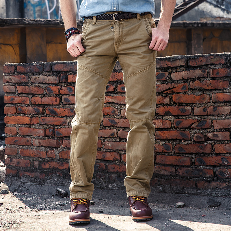 High Quality Men's Casual Style Cargo Pants Hommes Work Pants Mens Long Trousers Cotton Brand Free Shipping Big New Arrival 2049