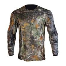 Men's Camo T-shirt Quick-dry Deodorant Breathable Crewnecks Training Suit
