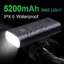 Bicycle-Headlight Power-Bank Chargeable 5200mah Waterproof Lumens Newboler 1000 USB Front-Ipx5