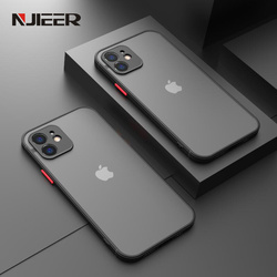 Shockproof Silicone Bumper Phone Case iPhone 12 11 Pro Max Mini X XR XS MAX 8 7 6 6S Plus SE 2020 Luxury Transparent Matte Cover