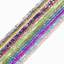 JHNBY di forma Quadrata di Lusso Austriaco di cristallo perline perle Trasparenti quadrate sfera di 2 millimetri 200pcs fornitura braccialetto Monili Che Fanno FAI DA TE