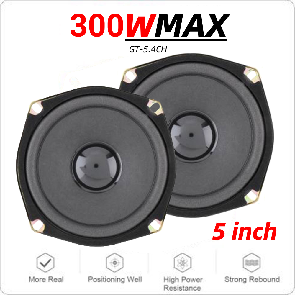 2pcs 4ohm <font><b>300W</b></font> Max 2 Way Car Coaxial Auto Audio Hifi Music Stereo Speakers Car Lound Woofer Speaker for Vehicle Door <font><b>SubWoofer</b></font> image