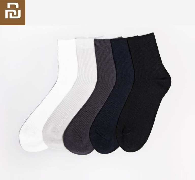 Youpin New 365WEAR Silver Ion Antibacterial Deodorant Socks Breathable Cotton Warm Socks Men Mid Stockings Wear Resistant