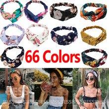 Fashion print Knot Women Headband Vintage Hairband Girls Headwear Leopard Headband Hair Accessories  Gift