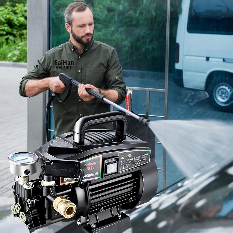 High Pressure Cleaner Ultra High Pressure Rumah Tangga 220 V Otomatis Pompa Mesin Pembersih Kecil Portabel Mesin Cuci Mobil