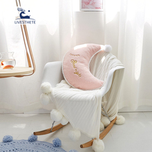 Liv-Esthete Cushion With Core Soft Cloud Love Heart Shape Decor Home Textiles Throw Pillow For Child Kid Christmas Gift