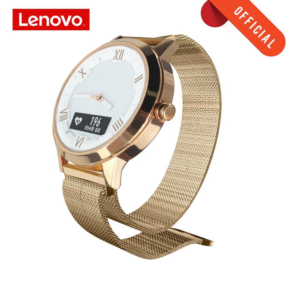Lenovo montre saphir miroir OLED écran montre intelligente montre x/x plus fréquence cardiaque Test de pression artérielle Smartwatch 8TAM étanche