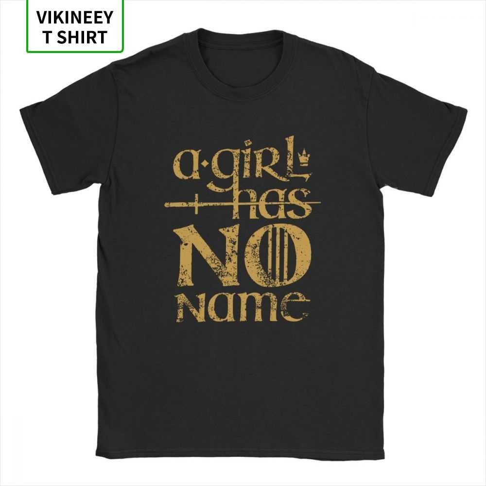 Uma menina não tem nome arya stark t camisa jogo dos tronos camiseta masculina manga curta humor camiseta 100% algodão topos gráfico