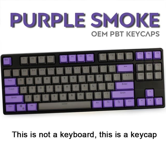 104/87 Key PBT Double Color Backlight GK61 Mechanical Keyboard Keycap For ANNE Ikbc Cherry MX Mechanical Keyboard