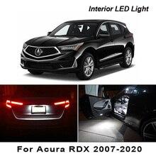 Acura RDX 2007 2020 Canbus 차량용 LED 인테리어지도 돔 트렁크 라이센스 플레이트 조명 키트 자동차 조명 액세서리