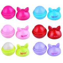 6 Color Fruit Lip Balm Organic Lips Ball Makeup Lipstick Glo