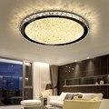 С украшением в виде кристаллов потолочный светильник Диаметр 22/35/60/80 см в простом стиле для гостиной, спальни, современные светодиодные пото...