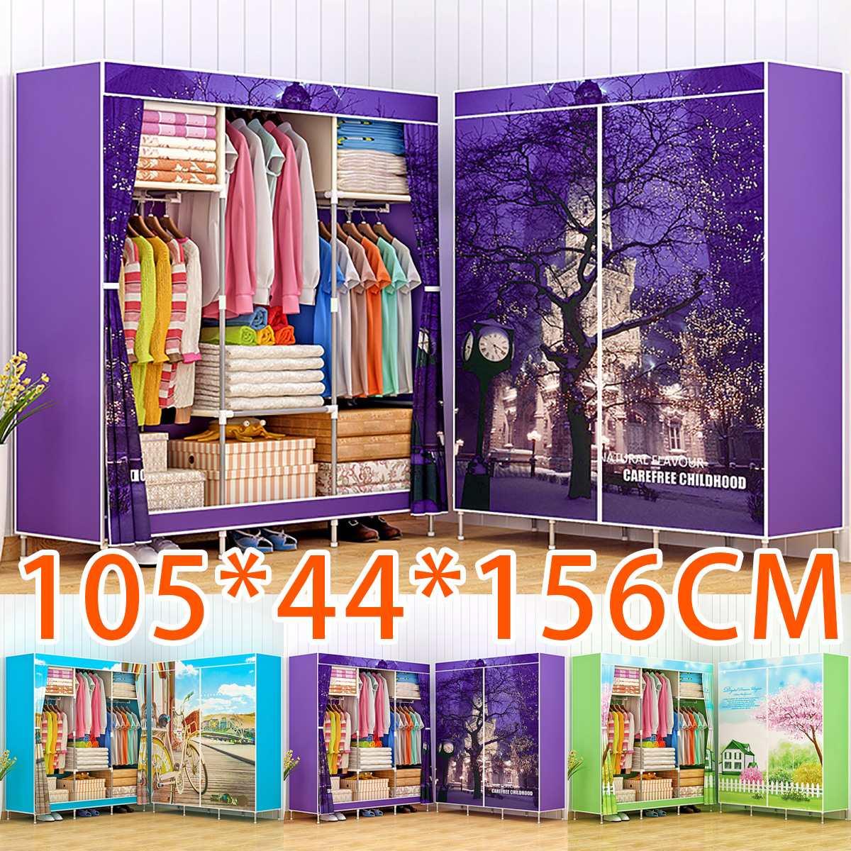 Multi-purpose Non-woven Cloth Wardrobe Fabric Closet Portable Folding Dustproof Waterproof Clothing Storage Cabinet Furniture