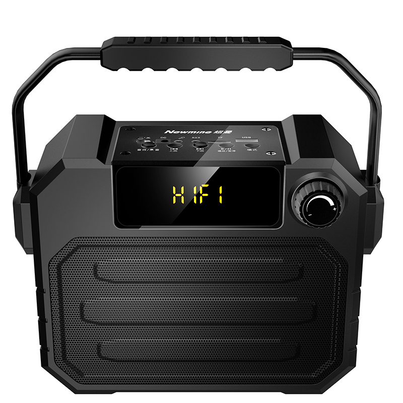 Square Dance Outdoor Stereo Bluetooth Speaker Portable Ultra 150W High Power Player Rechargeable Wireless Microphone Home K Song