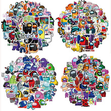 50Pcs/Pack Game Among US Cartoon Stickers For Laotop Phone Skateboard Fridge Guitar Motorcycle Car Travel Luggage Sticker Decals