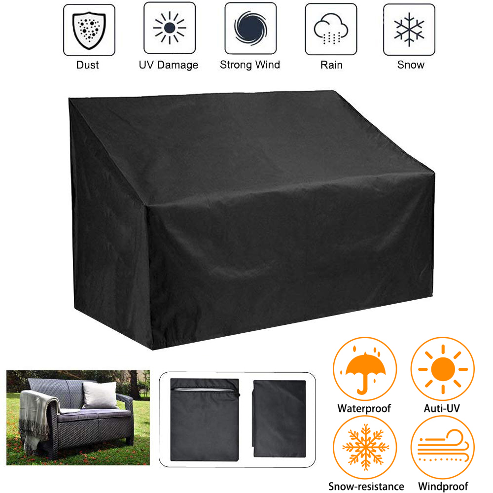 Rain Waterproof Snow Chair Sofa Table Cover High Back Outdoor Patio Garden Furniture Storage Dust Proof PVC Black Covers D30