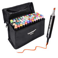 Touchnew Marker Pen Set Soft Brush Markers Dual Tips 60/80 Color Animation for Art Lovers Manga Drawing Sketching Art Supplies