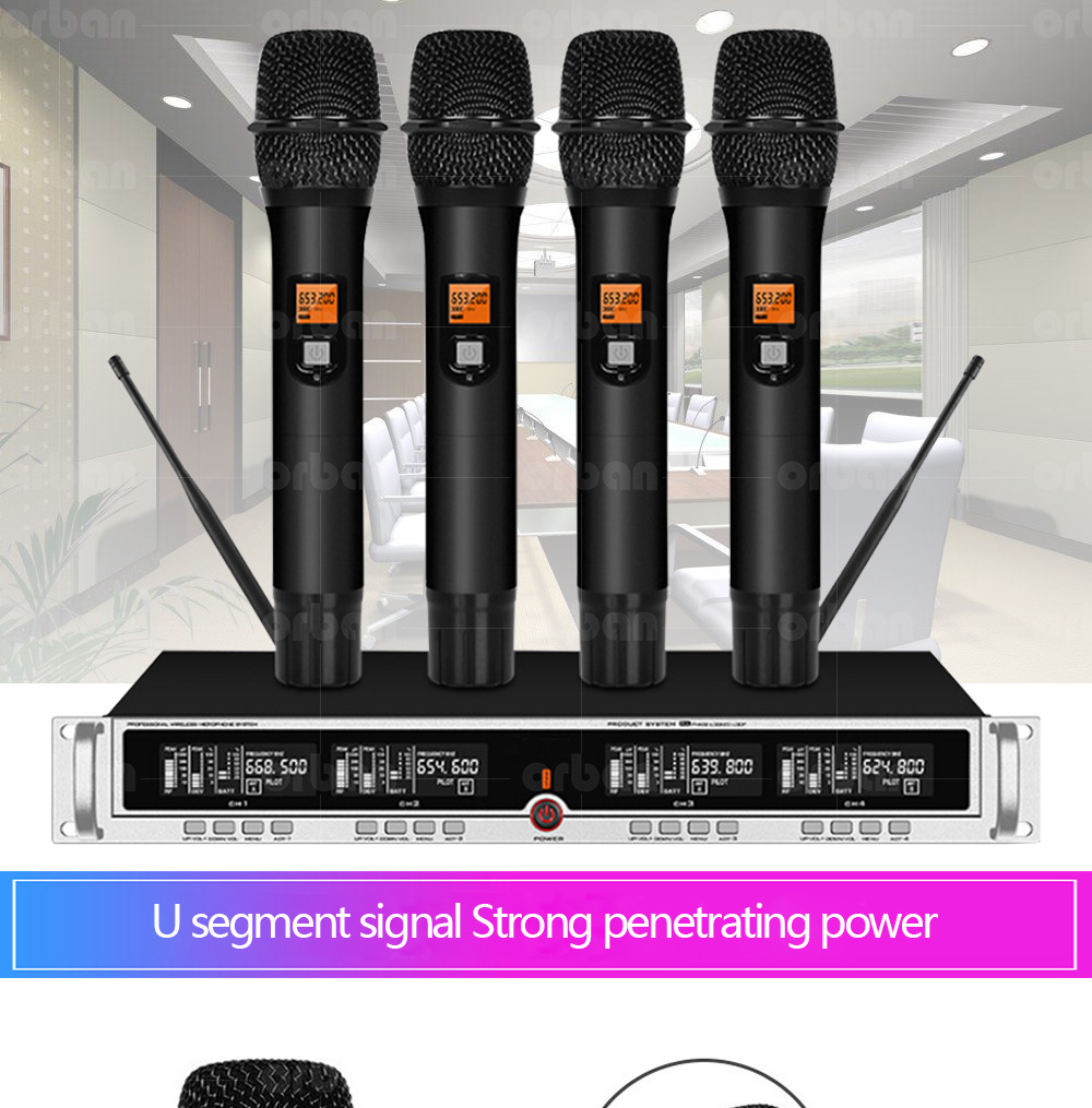 US $210.6 55% OFF|Professional UHF Wireless Microphone 2 Headphones 2 Handheld Microphone for Stage Performance Outdoor Activity Microphone on