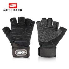 Мужские перчатки для тренажерного зала, фитнеса, Спортивная тренировка запястья, поддержка тяжелой атлетики, перчатки для бодибилдинга, тренировки кроссфита, перчатки на половину пальцев