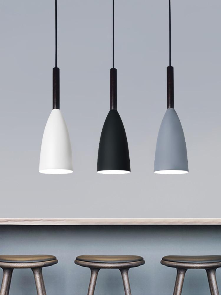 Скандинавский светодиодный светильник с тремя кольцами для ресторана, креативный светильник черного/белого/серого цвета, современный