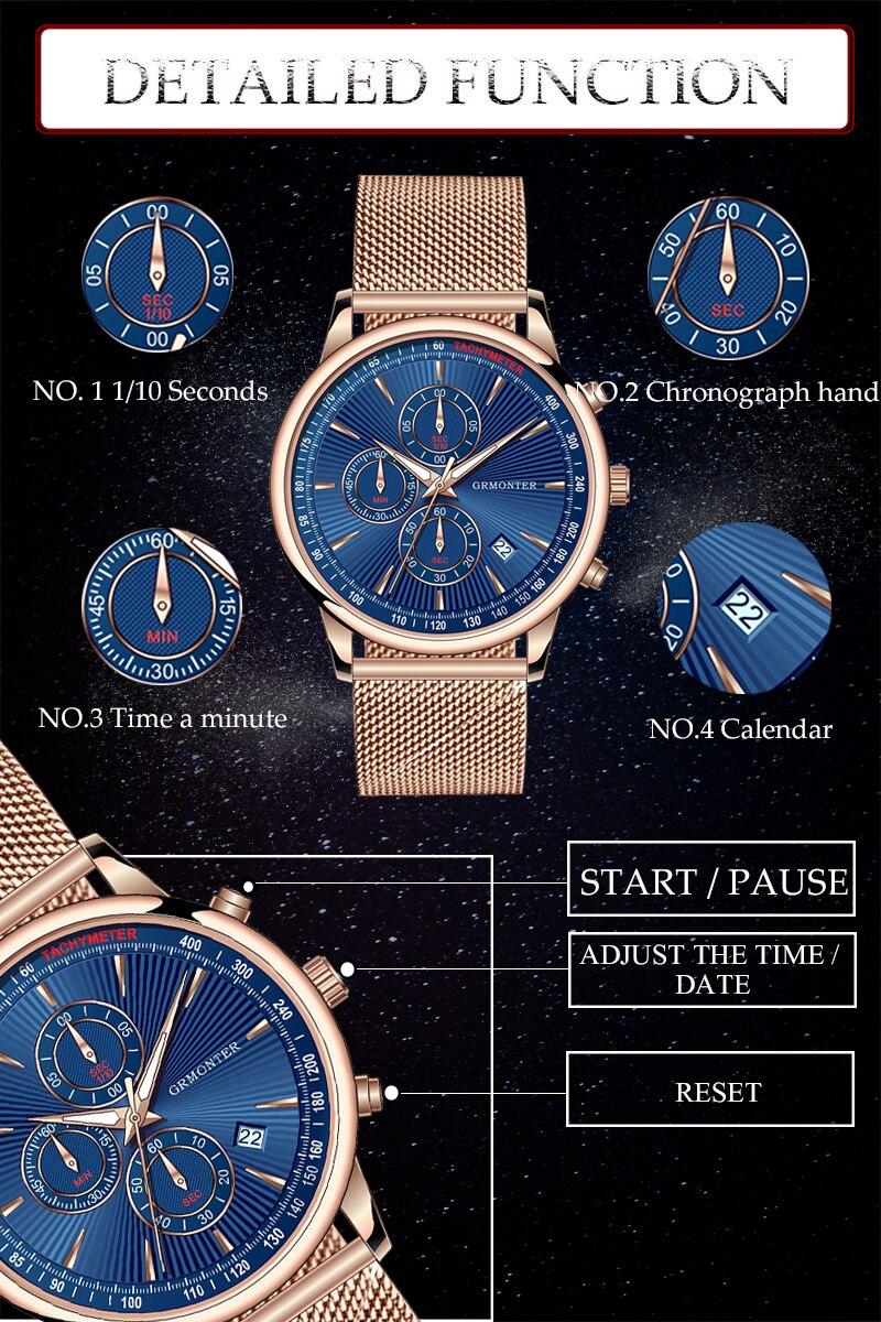 H4059febcc6a34598b35f0a344ce12d1bN Watch Chronograph Army Military Quartz Watches GRMONTRE