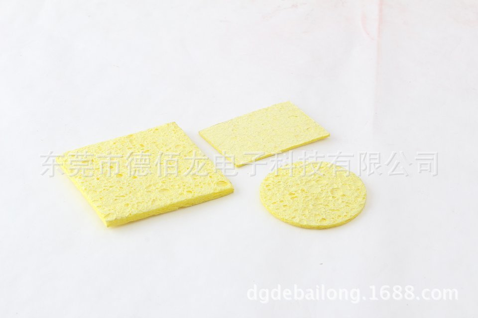 Iron Head Cleaning Sponge Cellulose Sponge Absorbent Sponge Circle Square Long Square Bubble Water High-temperature Resistant