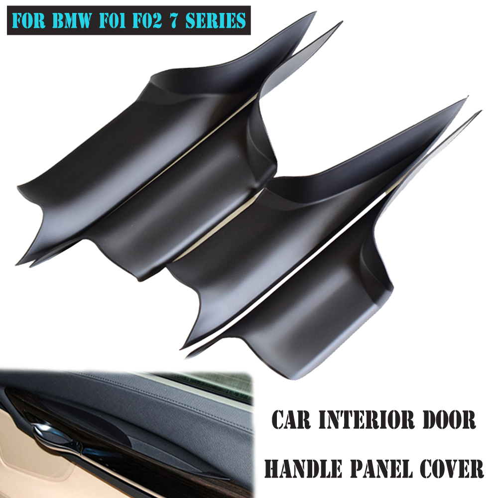 Hot Sell Car <font><b>Accessories</b></font> For <font><b>BMW</b></font> <font><b>F01</b></font> F02 7 Series Black ABS Plastic Side Interior Door Handle Panel Sedan Pull Trim Cover image