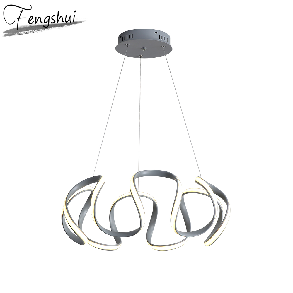 Nordic LED Light Strip Pendant Lights Lighting Aluminum Pendant Lamp Dining Living Room Bedroom Kitchen Fixtures Hanging Lamp