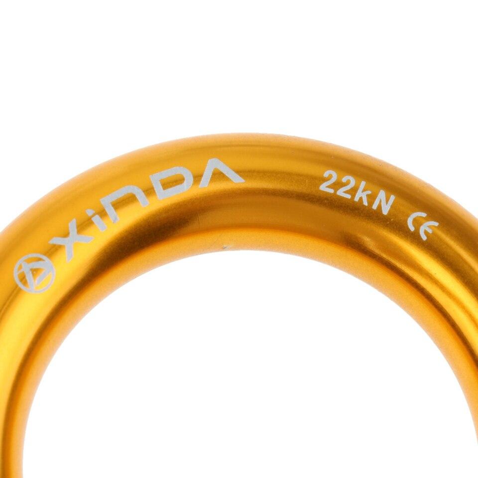 T TOOYFUL 22KN Alluminio Rappel Ring Connector Bail-out Discesa in Corda Doppia Arrampicata di Salvataggio