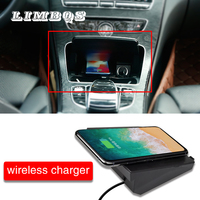 Car wireless charger for Mercedes Benz C class GLC W205 series For IPhone Samsung Huawei Xiaomi dashboard phone holder stand