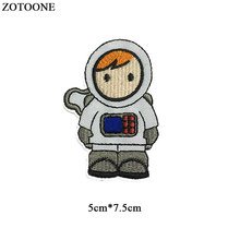 ZOTOONE Astronaut Patches for Clothing Iron on Transfers Space Badge Embroidered DIY Cool Patch Sew Stripe Clothes Applique G