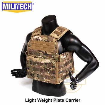 MILITECH Light Weight Vest Military Assault Tactical Plate Carrier Police Overt Wear Body Armor Plate Carrier 2