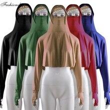 Blouse Clothing Arab-Tops Muslim Niqab Hijab Long-Sleeve Islamic Women Veil Full Ramadan