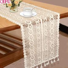 QIFU Silver Rose Gold Champagne Table Runners For Wedding Decoration Rustic Decor for the anniversary table