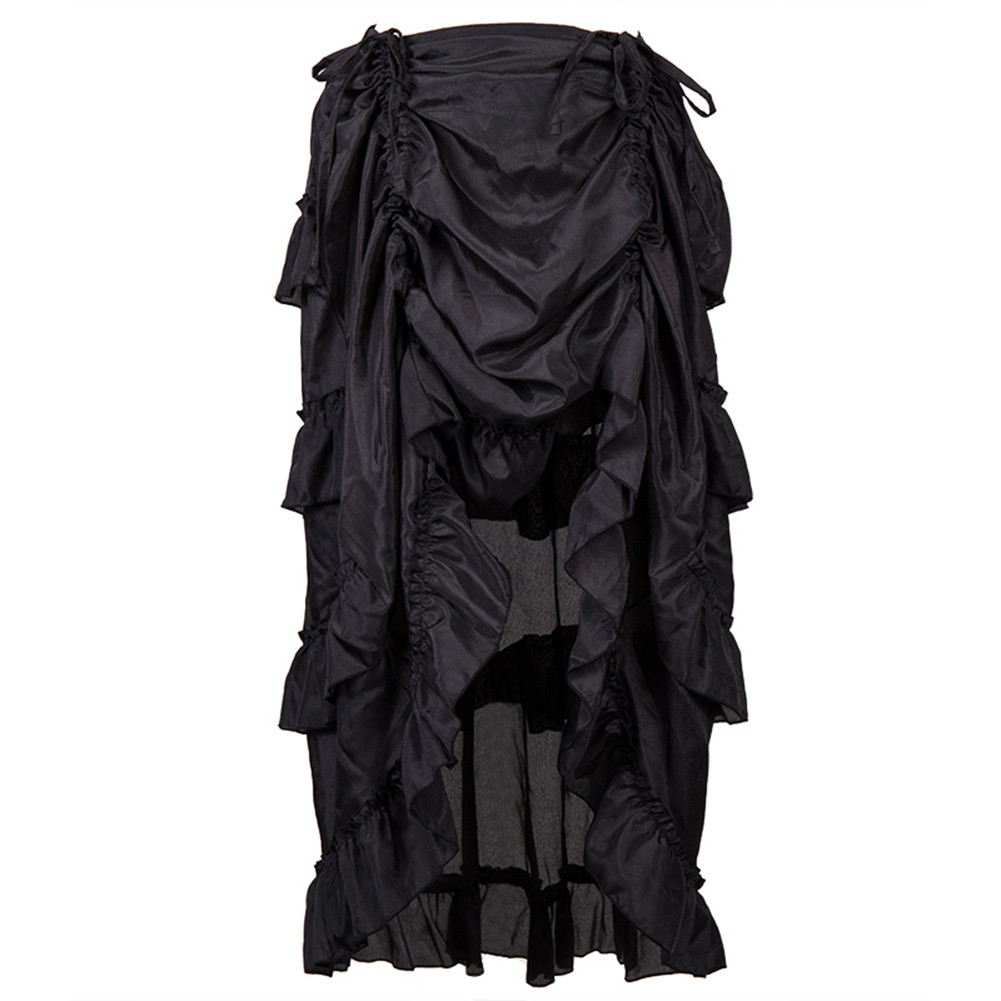 Women Skirt Large Size Steampunk Gothic Skirt Ruffled Pirate  Irregular Skirt Retro Party Skirt 2020 New Wild Skirt платье