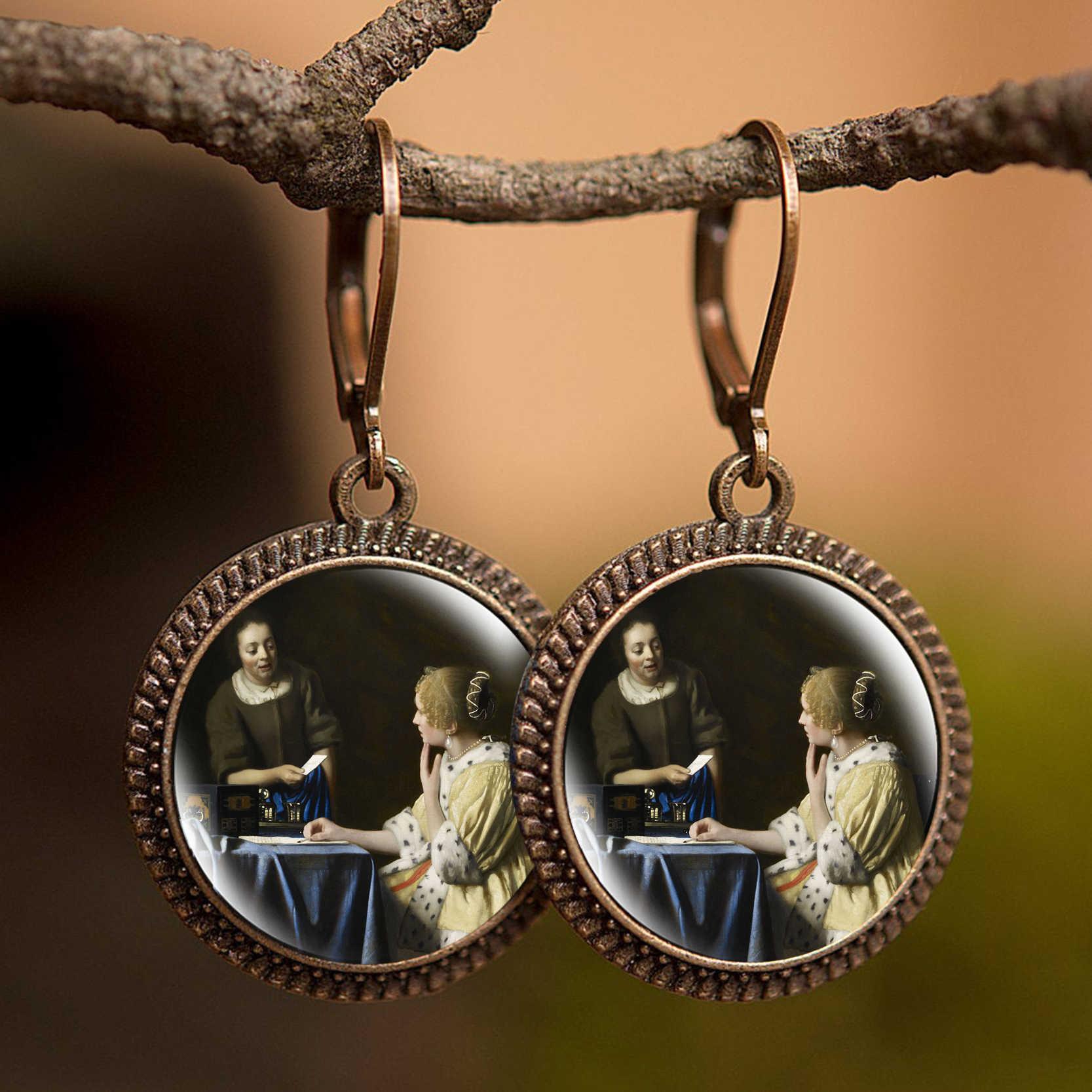 Kiz Giyen Inci Johannes Vermeer Sanat Boyama Kupe Retro Bildirimi