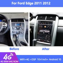 Styl Tesla Android 10 0 Radio samochodowe dla Ford Edge samochodowy odtwarzacz DVD odtwarzacz multimedialny Auto nawigacja GPS 4G DSP 2007-2013 tanie tanio Jetalon CN (pochodzenie) podwójne złącze DIN Default 4*50 w 256G System operacyjny Android 10 0 JPEG frame+glass+metal