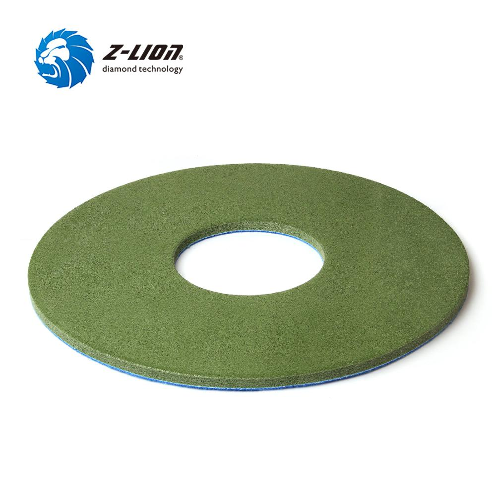 "Z-LION 1PC 17""Diamond Sponge Polishing Pad Marble Granite Artificial Stone Polishing Cleaning Wheel Nylon Fiber Wet Buffing Disc"