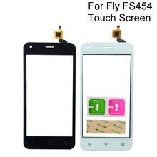 Tela sensível ao toque do telefone para fly fs454 nimbus 8 fs 454 painel digitador da tela de toque frontal lente vidro sensor ferramentas 3m cola