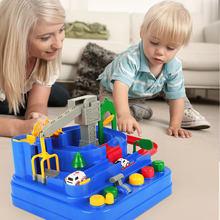 Pista de juego de coches de juguete para niños, juego de mesa de carreras Montessori de 1 año