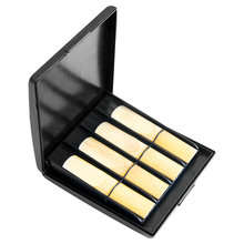 Reeds Case Sax Saxophone Clarinet Oboe Reeds ABS Case Storage Box Waterproof Wear Resistant General for 8 Reeds Grids Sax Alto
